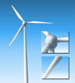 Vector wind turbine — Stock Vector