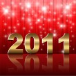 Royalty-Free Stock Векторное изображение: New Year 2011 background