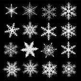 Ensemble hiver flocon de neige — Vecteur