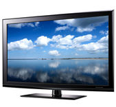Modern widescreen tv — Stock Photo