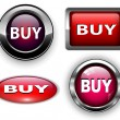 Buy buttons, icons set. — Imagen vectorial