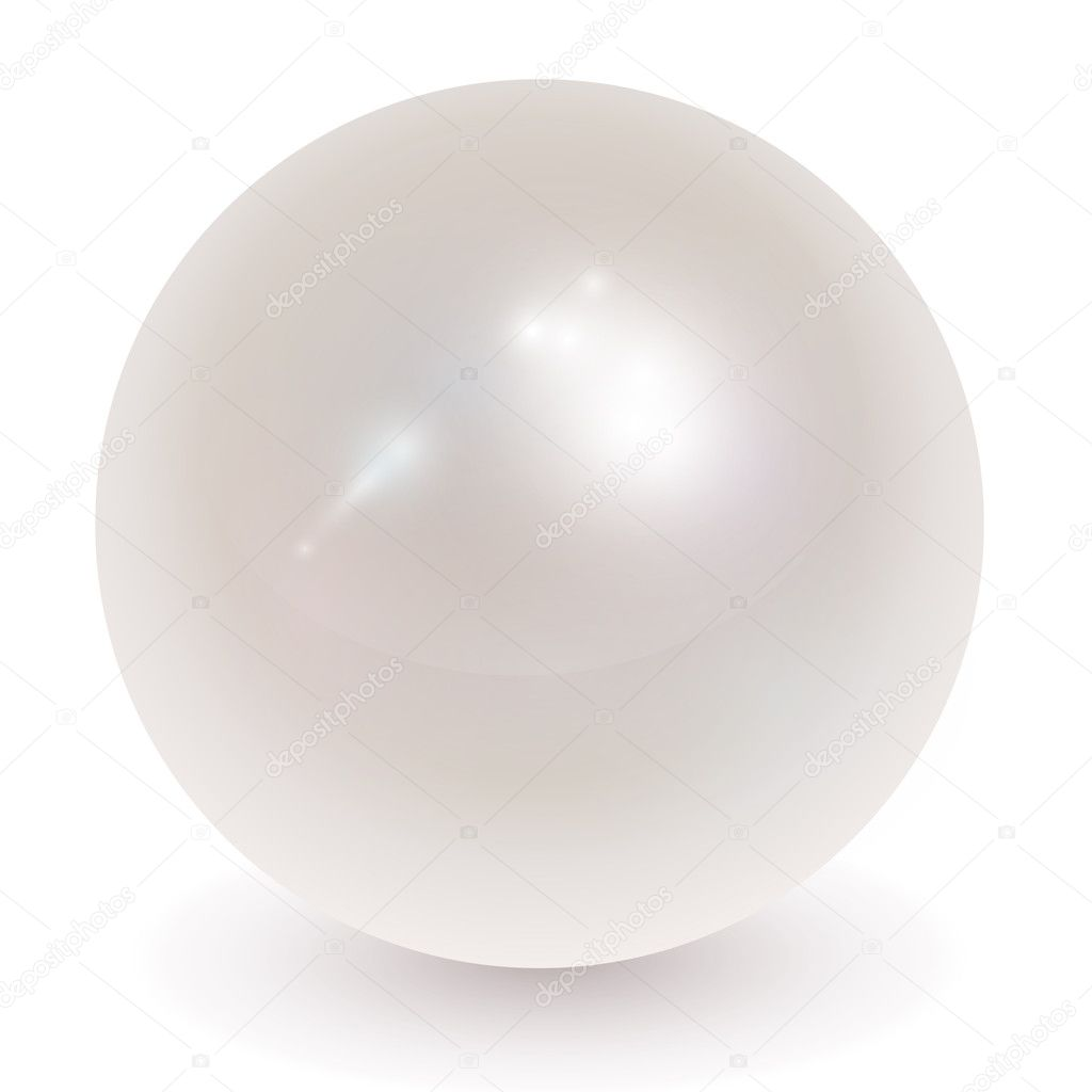 Beautiful pearl, orb realistic vector illustration. — Stockvectorbeeld #4467281