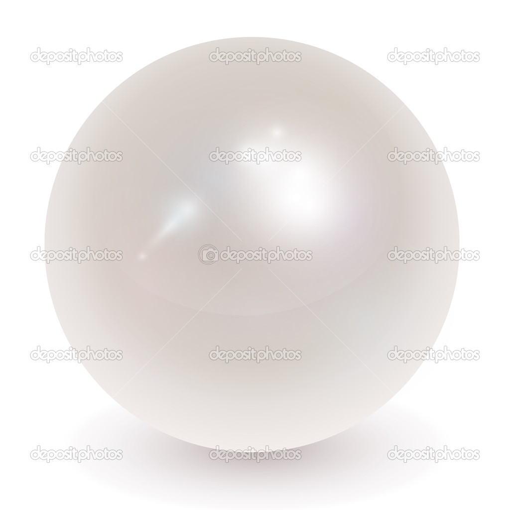 Beautiful pearl, orb realistic vector illustration.  Imagens vectoriais em stock #4467281