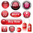 Royalty-Free Stock Imagem Vetorial: Buy buttons, icons set.