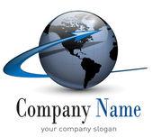 Logo globe, vektör. — Stok Vektör