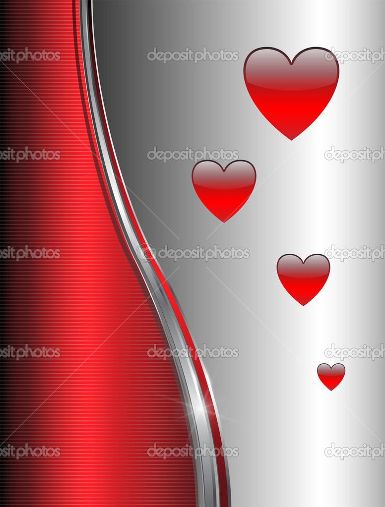 Abstract background with hearts, vector. — Stock Vector #4578835