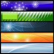 banners, headers — Stock Vector