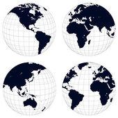 Earth globes — Stock Vector