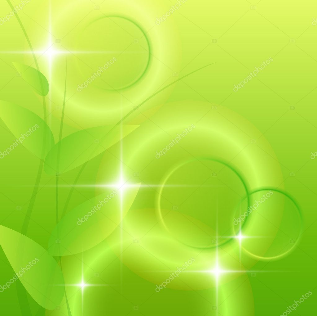 Abstract green background, vector illustration. — Stock Vector #5151703