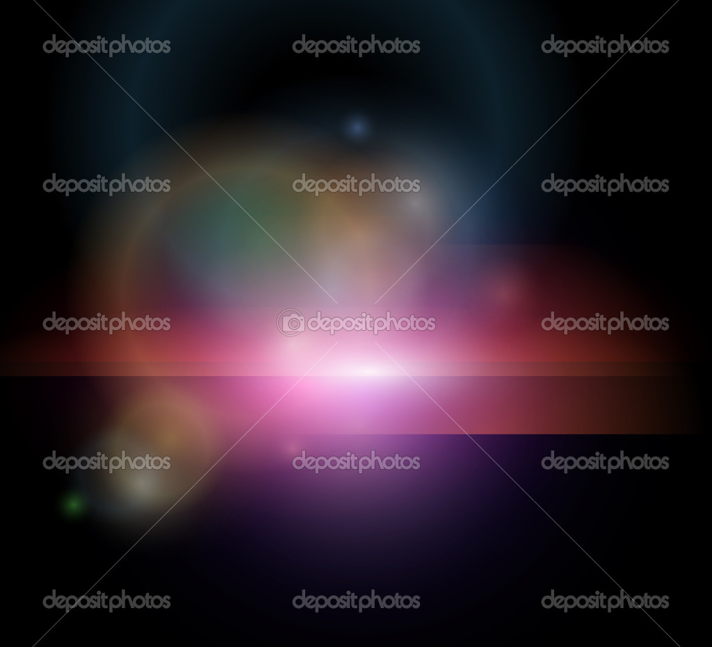 Stylized abstract background with glowing stars, vector. — Stock Vector #5355984