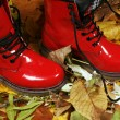 Red boots — Stock Photo