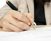 Signing the contract — Foto Stock