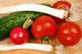 Salat zutaten — Stockfoto