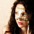 Woman wearing a mask — Stock Photo