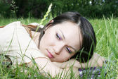 Young female in the park — Stock Photo