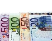 欧元纸币钱 — 图库照片