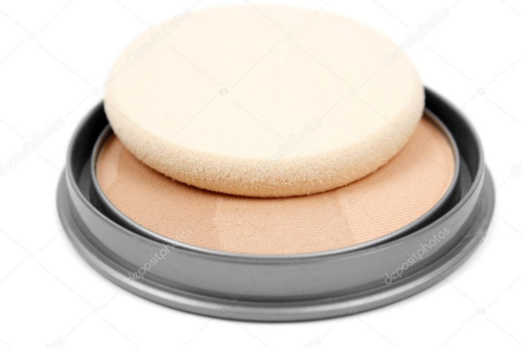Face powder isolated on white background  — Stock Photo #5277717