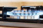 Cocinar con luz de gas — Foto de Stock