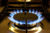 Cooking by gas light — Stock Photo