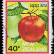 Vintage postage stamp of an apple with clipping path — Stock Photo