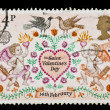 Vintage stamp for valentine's day with clipping path — Stock Photo