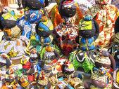 Handmade dolls made of rags — Stock Photo