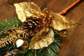 Gold christmad decoration — Stock Photo