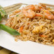 Stock Photo: Spaghetti chinese with shrimp and mushroom