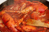 Red lobster sauce — Stock Photo