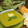 Artichokes soup — Stock Photo