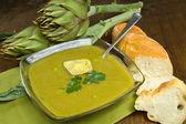 Artichokes soup — Stock Photo