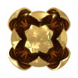 Abstract spheres golden — Foto de Stock