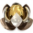 Spheres bronze, silver and golden - 