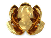 Spheres golden — Stock Photo