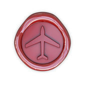 Wax with airplane sign — Stock Photo