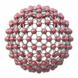 Spherical molecular grid — 图库照片