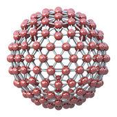 Spherical molecular grid — Stock Photo