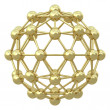 Spherical golden molecular grid — Stock Photo #5066500