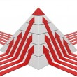 Pyramid chart red-white — Stock Photo