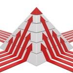 Pyramid chart red-white — Stock Photo #5314735