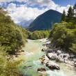 The Julian Alps in Slovenia - Soca river — Stock Photo #5214731