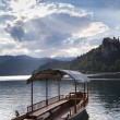 Boat in Bled Lake in Slovenia — 图库照片 #5214858