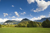 The Julian Alps in Slovenia - wiev from Bovec — Stock Photo