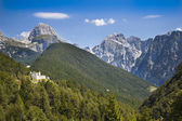 Castle ruins in Julian Alps, Slovenia — Stock Photo
