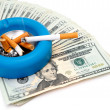 Stock Photo: Cigarettes - Money Up In Smoke