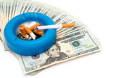 Cigarettes - Money Up In Smoke — Stock Photo