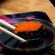 Sushi with red roe — Stock Photo