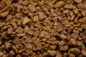 Brązowy eteryczny kawa rozpuszczalna makro — Zdjęcie stockowe