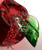 Glass apple — Stock Photo