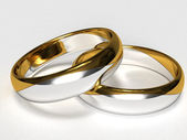 Silver-gold Rings — Stock Photo